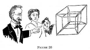 Un visitatore dalla Quarta Dimensione! La proiezione di un ipercubo a quattro dimensioni.