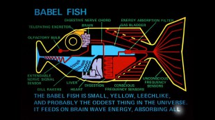 "Descrizione del babelfish (dal film di Garth Jennings  ""The Hitchhiker's Guide to the Galaxy"")"