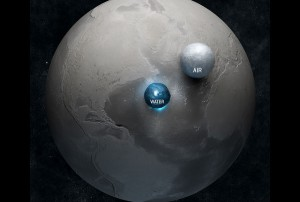 La goccia d'acqua e la bolla d'aria che conservano la vita