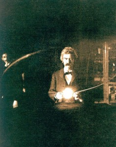 Mark Twain nel laboratorio di Tesla